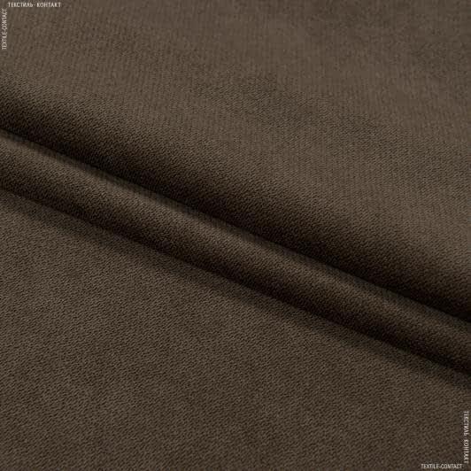 Ткани для мебели - Велюр будапешт/budapest т.коричневый