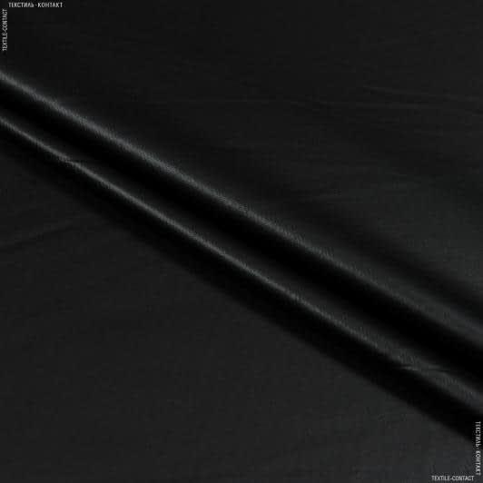 Ткани для платьев - Кожа искусственная стрейч черный