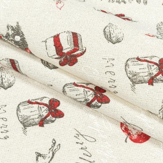 Ткани для декоративных подушек - Декоративная новогодняя ткань елочные украшения люрекс