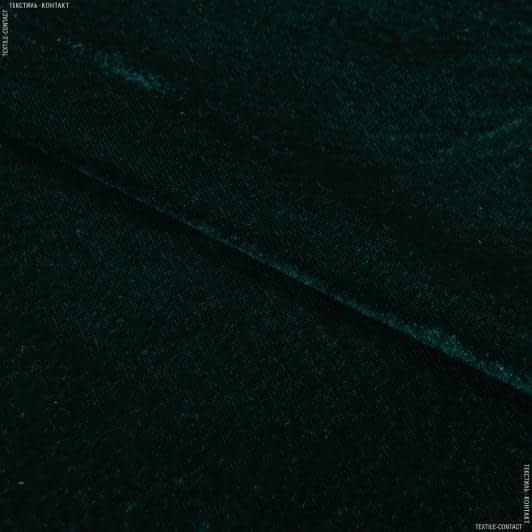 Тканини для суконь - Велюр стрейч темно-зелений