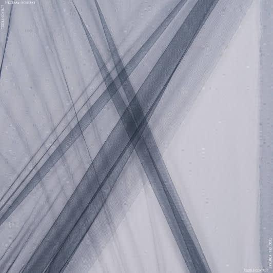 Ткани для блузок - Фатин блестящий темно-синий
