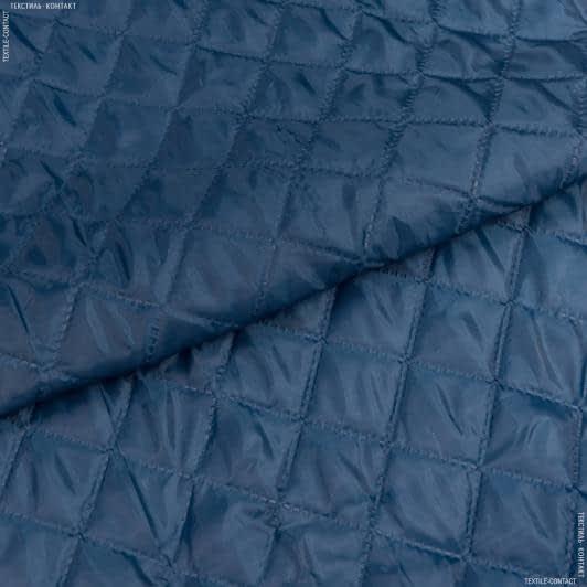 Ткани подкладочная ткань - Подкладка 170т с синтепоном 100г/м термопай 5*5 морволна