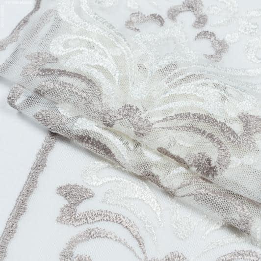 Тканини для печворку - Декоративне мереживо верона/ молочний-сірий 17 см