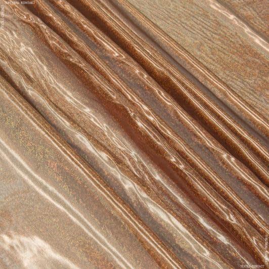 Ткани для блузок - Парча голограмма темно-оранжевый