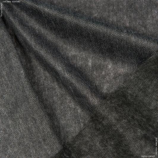 Ткани дублирин, флизелин - Флизелин точечный клеевой черный 35г/м