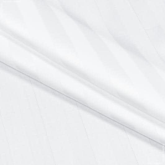 Ткани для постельного белья - Сатин отбеленный полоса 2 см