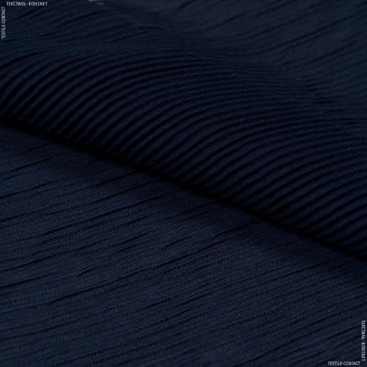 Тканини для суконь - Шифон плісе темно-синій