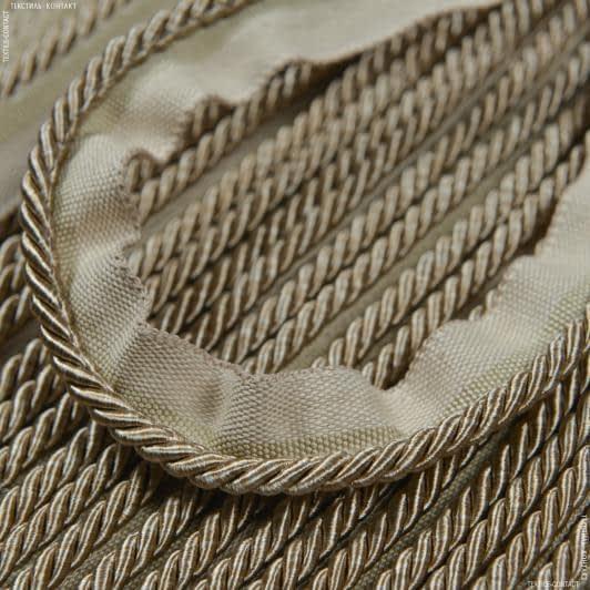 Тканини фурнітура для декора - Шнур окант. тоненький Солар, темно-бежевий