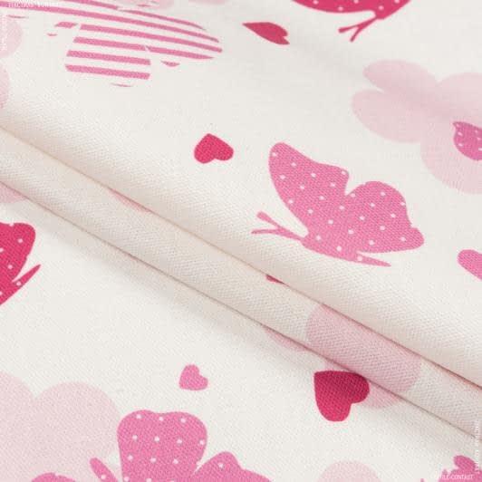 Ткани портьерные ткани - Декоративная ткань  бимби бабочки/bimbi  /розовый