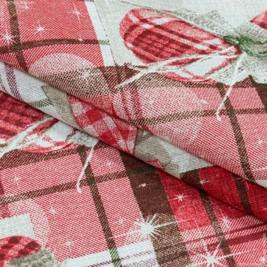 Тканини для декоративних подушок - Декоративна новорічна тканина різдвяний стіл