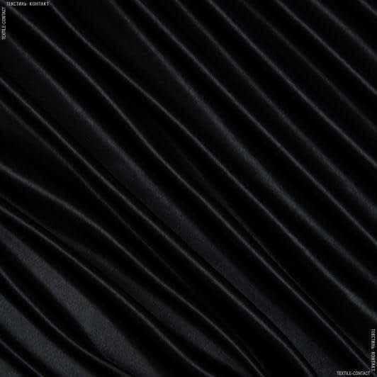 Тканини для суконь - Креп-сатин чорний