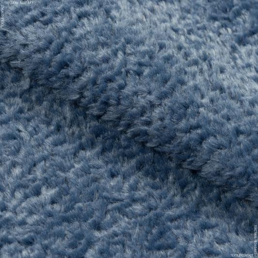 Тканини для верхнього одягу - Хутро темно-блакитний
