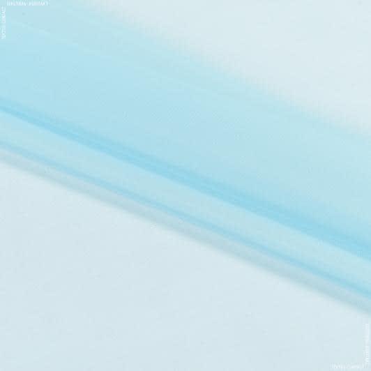 Ткани для драпировки стен и потолков - Тюль  вуаль голубой мел