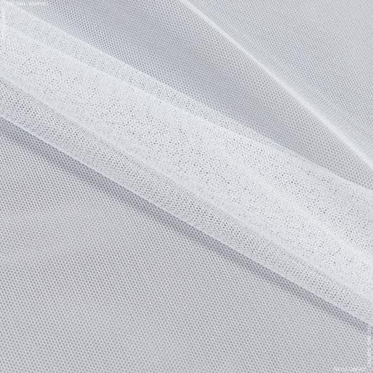 Ткани гардинные ткани - Тюль с утяжелителем сетка грек/grek  белый