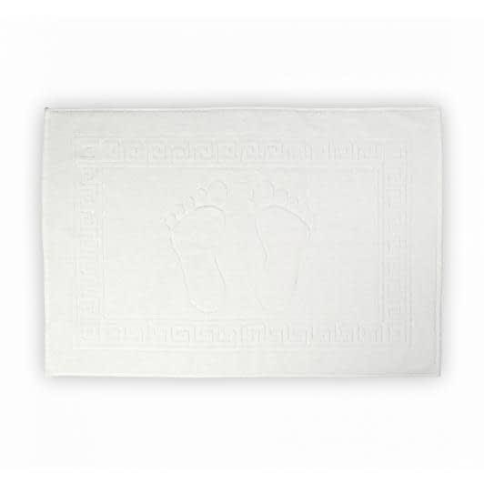 """Ткани махровые полотенца - Полотенце махровое """"ножки""""  50х70 белый"""