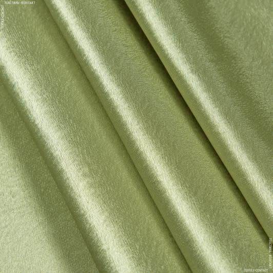 Тканини для суконь - Креп-сатин оливковий