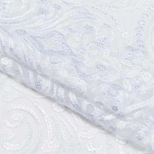 Тканини для печворку - Декоративне мереживо вазарі / білий 22 см