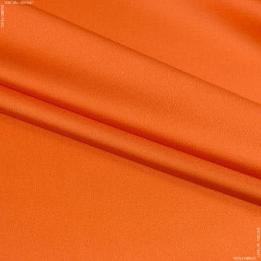 Ткани для платьев - Атлас-шелк стрейч оранжевый