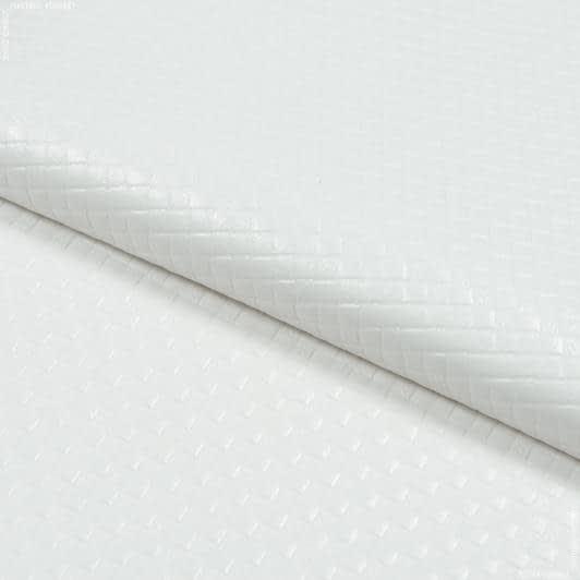 Ткани horeca - Мулетон тиснение вафелька  / молочный