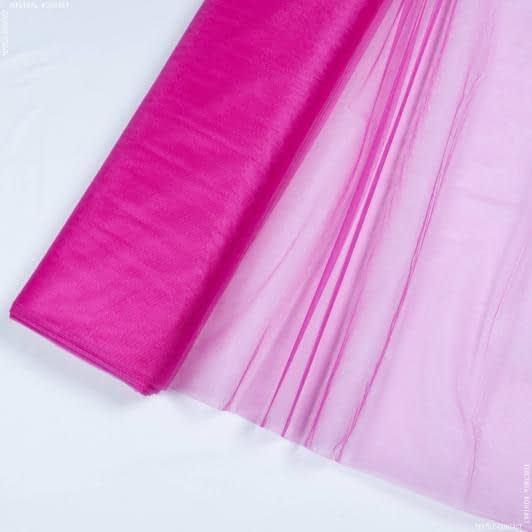Ткани для платьев - Фатин блестящий т/малиновый