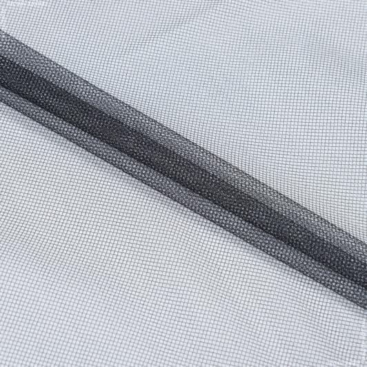 Ткани для платков и бандан - Фатин блестящий черный