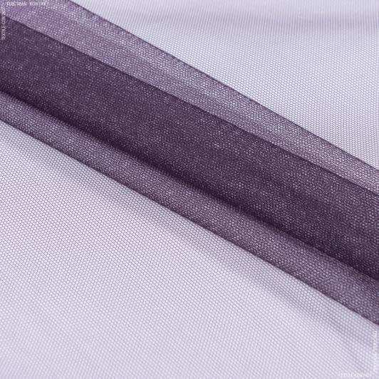 Ткани для платьев - Фатин темный серо-фиолетовый