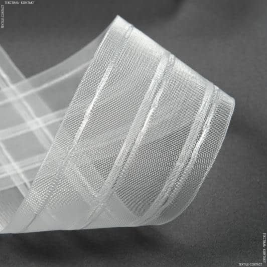 Ткани фурнитура для дома - Тесьма шторная КС-1:3 75мм±0.5мм/50м прозрачная Y-буфы