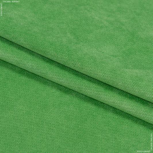 Ткани для мебели - Велюр будапешт/budapest  зеленая трава