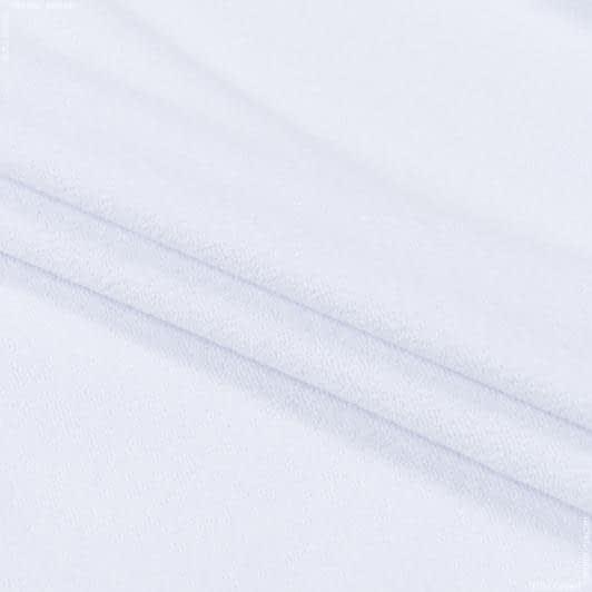 Ткани для постельного белья - Махровое полотно одностороннее белый   110см х 2