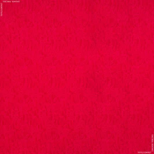 Тканини для костюмів - Костюмний жакард фукро червоний