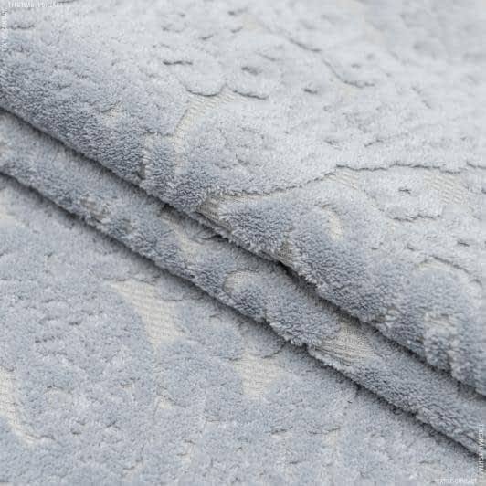 Ткани для мебели - Велюр   византия  св.серый