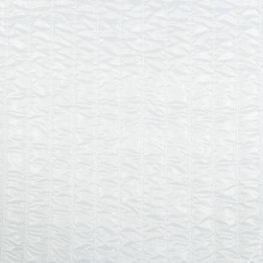 Ткани для спортивной одежды - Плащевая руби лаке стеганая белый