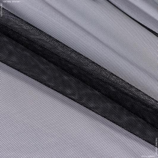 Ткани гардинные ткани - Тюль с утяжелителем сетка грек/grek  черный