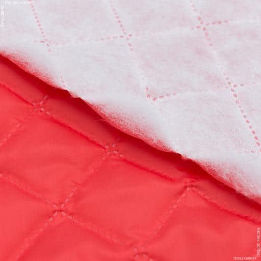 Тканини підкладкова тканина - Підкладка 190Т термопаяна  з синтепоном  100г/м  5см*5см червоний