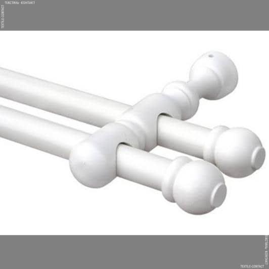 Тканини карнизи - Карниз дерев'яний рома II білий 28/28мм/125см
