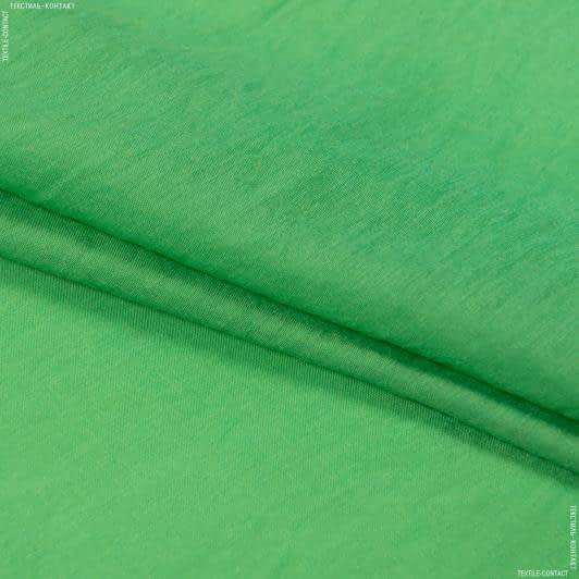Ткани для блузок - Батист блестящий креш темно-салатовый