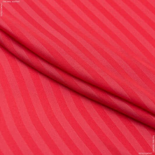 Ткани для платьев - Блузочный сатин принт коралловый