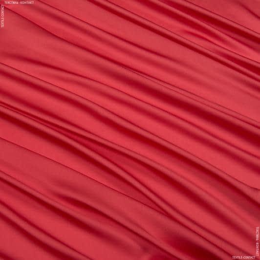 Ткани для платков и бандан - Шелк искусственный алый