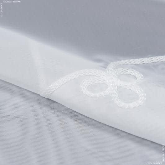 Ткани для тюли - Тюль вуаль купон анфиса молочный