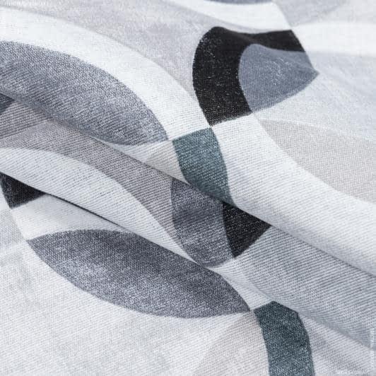 Тканини портьєрні тканини - Декоративна тканина рітмо/ritmo сірий,чорний