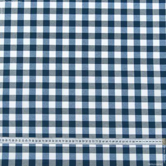 Тканини для банкетних і фуршетніх спідниць - Скатертина клітина весна синій