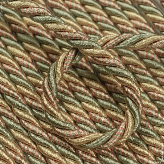 Ткани фурнитура для декора - ДЕКОРАТИВНЫЙ ШНУР ГЛЯНЦЕВЫЙ  МЕЛАНЖ  d =9 мм