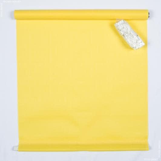 Тканини ролети - Роллет міні фактурний лимонний  98х150