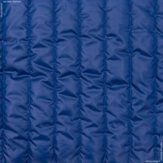 Ткани для верхней одежды - Плащевая руби лаке стеганая электрик