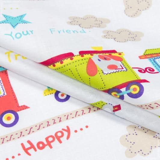 Тканини для дитячої постільної білизни - Бязь набивна дитяча потяг