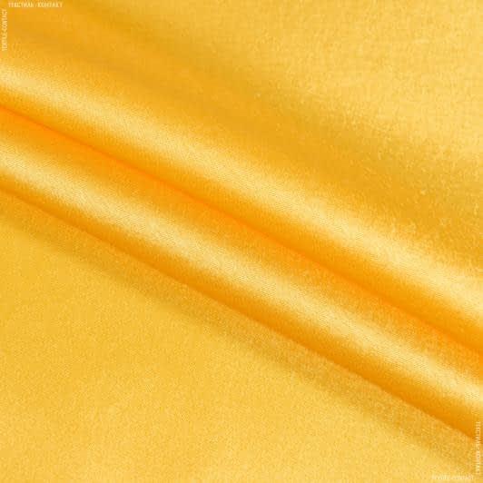 Тканини для суконь - Креп-сатин жовтий