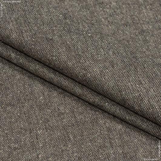 Ткани для брюк - Костюмный твид коричневый