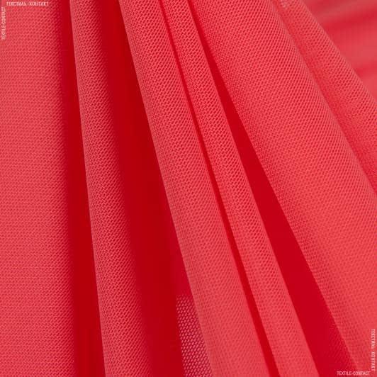 Тканини для суконь - Сітка стрейч кораловий