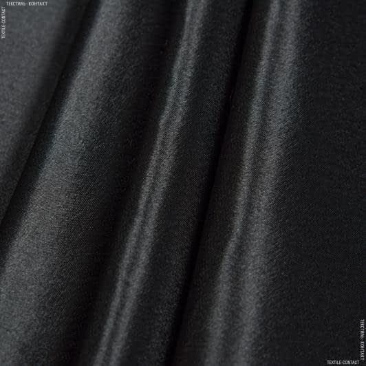 Ткани для платьев - Креп-сатин черный