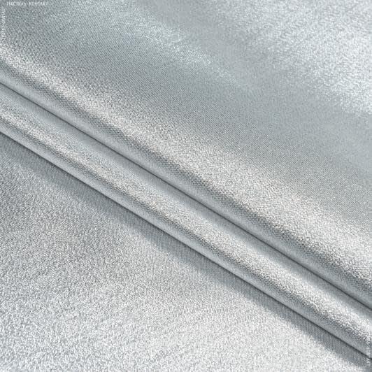 Тканини парча - Парча голограма срібний